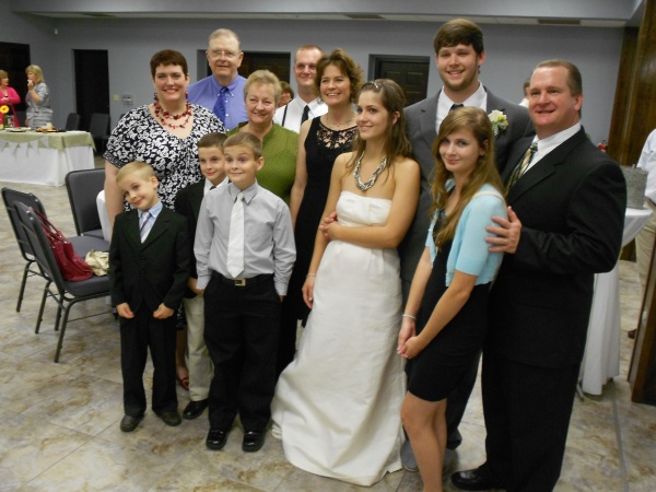 My entire immediate family at my nephew's wedding, 2011