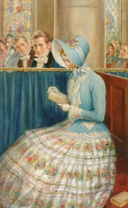"""""""Admiring Glances"""" by Enoch Fairhurst (1874--1945), painting date unknown"""