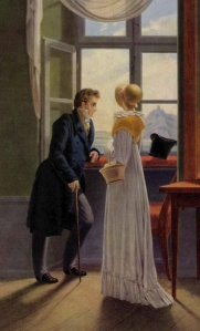 Couple At A Window (detail) by Georg Friedrich Kersting, 1815