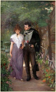 """Flirtation in the Garden"" by Ludwig Stutz, 1897"