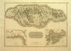 19th Century Map of Jamaica