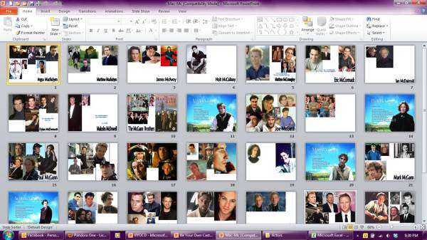 "Slide-sorter view of the PowerPoint document containing my ""Mac-Mc"" Real World Templates (click image for full-size view)"