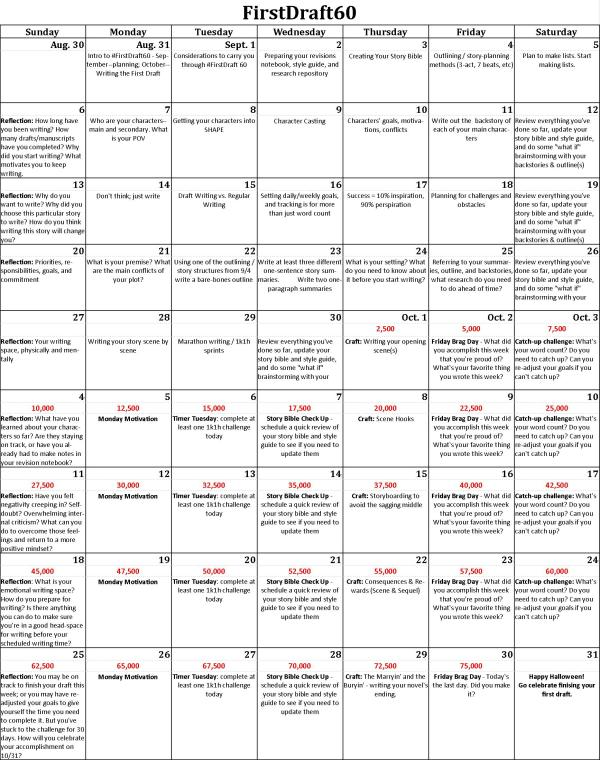 FirstDraft60 Calendar
