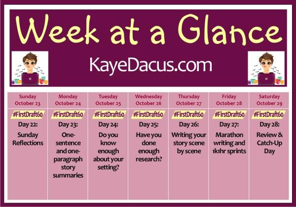 #FirstDraft60 Week 4 Overview | KayeDacus.com