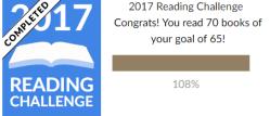 2017 Reading Goals